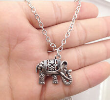 necklace girl necklace friend gift! 1pcs silver Elephant pendant alloy