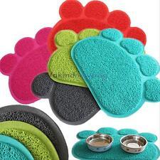 Pet Dog Puppy Paw Shape PVC Cat Dish Bowl Feeding Food Placemat Mat Wipe Clean#V