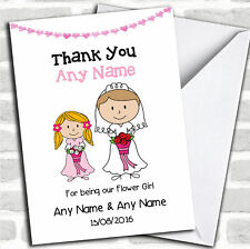 Thank You For Being Our Flower girl Thank You Customised Card