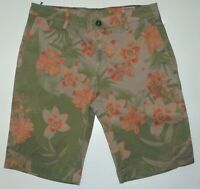 NWOT EU 46 US 30 Mason's Man Chino Short BE EISENHOWER 1 Cotton Floral msrp $215