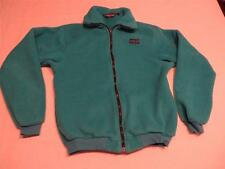 Vtg Patagonia Womens Cute Teal Blue Soft Fleece Fall/Spring Jacket Coat Sz 13/14