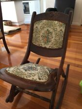 Antique Victoria Wood Folding Rocking Chair