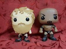 Lot of 2 Wwe Wrestler Vaulted Funko Pop Figures The Rock & Daniel Bryan
