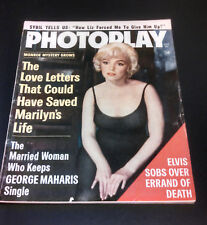 Photoplay Movie Magazine Marilyn Monroe Cover Natalie Wood Fabian Elvis Presley