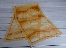 Scarf Vera Neumann Vintage Sheer Brown Orange Tan Vinal Silk Hand Rolled Japan