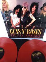 GUNS  ROSES THE ULTRA RARE TRAX 2X RED VINYL LP SET NEW