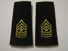ARMY SERGEANT MAJOR SHOULDER MARKS - NCO EPAULETS/SHOULDER BOARDS NIP