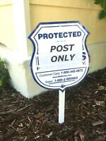"Sign Mounting Post 8"" Pole For Yard Home Gardening Address Security System Signs"