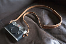 Handmade Real Leather Camera strap Neck strap for film EVIL camera 01-104 Brown