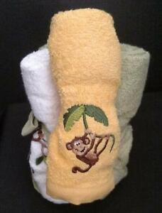Saturday Knight 6 pc Gift Pack Jungle Monkeys Washcloths NWT