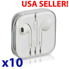 10 x LOT Headphones Earphones Earbuds Headsets Remote & Mic for Apple iPhone