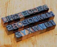 A-Z Alphabet 18 mm Holzbuchstaben Lettern Druck Holzlettern Deko vintage rar alt