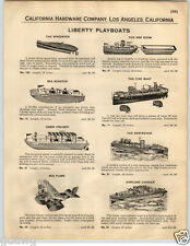 1932 PAPER AD Liberty Playboats Toy Boats Cabin Cruiser Jacrim's Flying Yankee