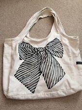 Lauren Moshi Bow Tote Canvas Shopper Bag