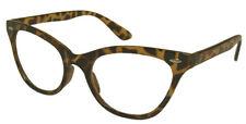 TORTOISESHELL BROWN CAT EYE Frames Clear Lens Glasses Geek Nerd Style #1167