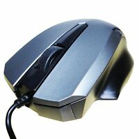 RATON ORDENADOR OPTICO CON CABLE USB 2.0 1200 DPI PORTATIL PC GAMING MOUSE