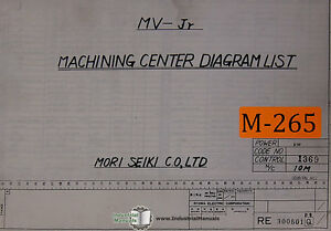 Mori Seiki MV-Jr, Machining Center Diagram List Manual