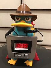 Disney Alarm Clock Fm/Am Radio Phineas And Ferb Model No: Pf300Acr Works Well