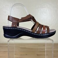 Clarks Lexi Slingback Sandals Womens Size 9 M Brown Leather