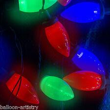 50 Natale Multi Colore all'aperto c9 Stringa Luci barbecue Garden Party Decorazione