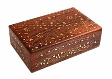Store Indya Decorative Wooden Jewelry Box Keepsake Storage Chest Handcrafted wit