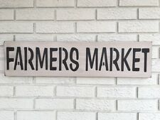 """Large Rustic Wood Sign - """"Farmers Market"""" -Fixer Upper, Antique White"""