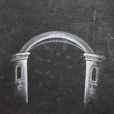 Vintage architectural design gouache painting arch