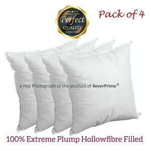 Pack of 4 Extra Deep Filled Cushion Pads Inserts Fillers Scatters ALL SIZES