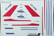 1/144 - Carmichael Decal - Wardair Airlines - Boeing B727-100