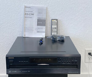 ONKYO DX-C390 Compact Disc Player 6-Disc CD Changer w/Remote and manual.