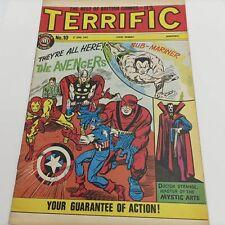 UK Vintage Terrific Comic #10 June 1967 [G+] Marvel   Sub-Mariner & Zemo Pin-Up