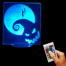 The Nightmare Before Christmas Jack and Sally LED Display Light Sign Night Lamp