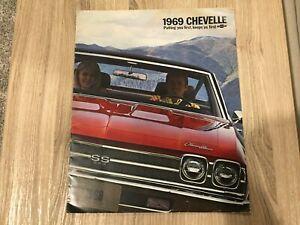 1969 CHEVROLET CHEVELLE PRESTEGE PIECE BROUCHURE