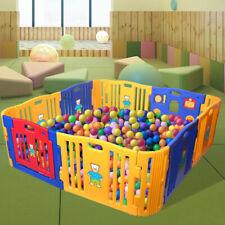 Baby Playpen 12 Panel Kids Safety Play Center Yard Home Indoor Outdoor Girls