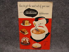 1957 Sunbeam Automatic Mixmaster Instruction & Recipe Book Booklet