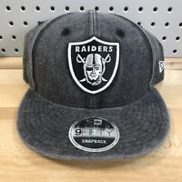 Oakland Raiders NFL Football New Era Low Profile 9FIFTY Snap Back Cap EUC Hat
