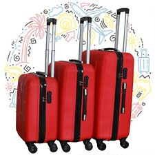 Set 3 maletas ABS juego de maletas de viaje trolley maleta dura ROJO