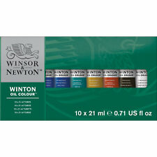 Winsor & Newton Winton Oil Colour Paint Set 10 x 21ml Tubes