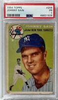 1954 Topps #205 Johnny Sain PSA PR 1 New York Yankees