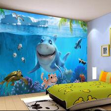 New 3D Wallpaper Mural Custom Cartoon Fish Under Water Sea Wall Home Decoration
