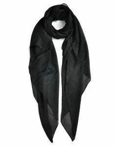 Ladies Soft Fresh Delicate Plain Silk Long Scarf Shawl UK STOCK !