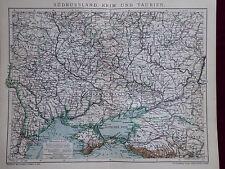 Landkarte von Südrussland, Krim und Taurien, Brockhaus 1904