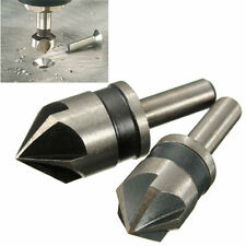 2x 5 Flute Drill Bit Set 82° Counter Sink Chamfer Cutter 1/4 Shank (52)