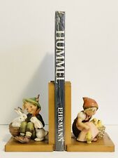 Vintage Goebel Hummel BOOKENDS 61A 61B PLAYMATES Rabbits And CHICK GIRL TMK2