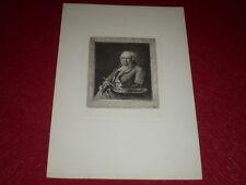 Adolphe LALAUZE / Portrait GOYA Superbe Eau-Forte avant la lettre Rare!
