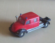Vintage Wiking HO 610 Magirus fire engine cab chassis plus tanker 1960s