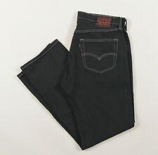 Vintage LEVI'S 501 Black Over-Dyed Regular Fit Men's Jeans 34W 32L 34/32 /J3033