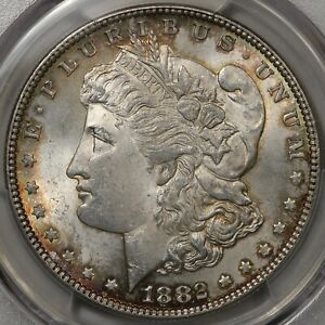 1882 Morgan Dollar PCGS & CAC MS-64 - An Album-Toned Beauty!