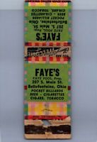 Matchbook Cover - Faye's Faye Pool Prop Bellefontaine Ohio Matchbook Cover