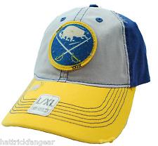 Buffalo Sabres CCM NHL Hockey Distressed Bill Patched Team Logo L/XL